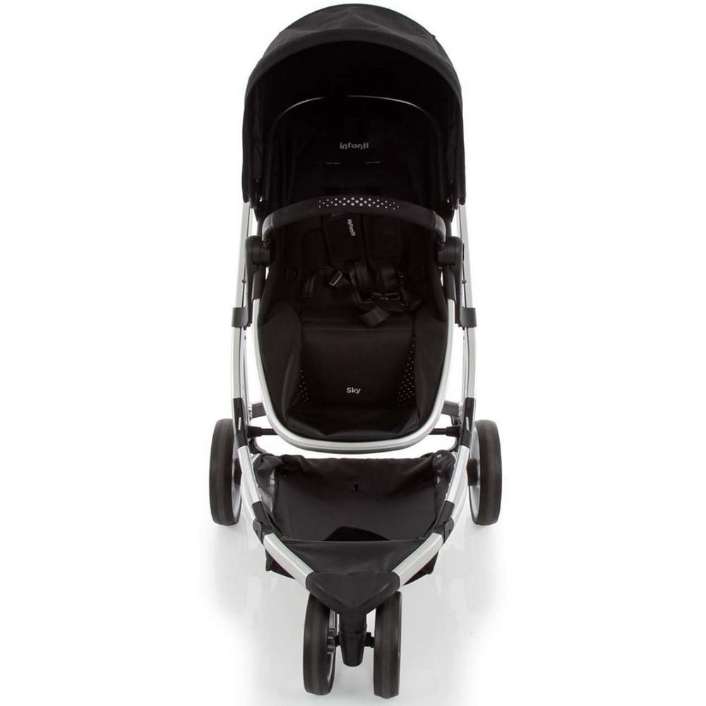 Carrinho de Bebê Travel System  Sky Trio Black Classic 0 meses a 15 kg