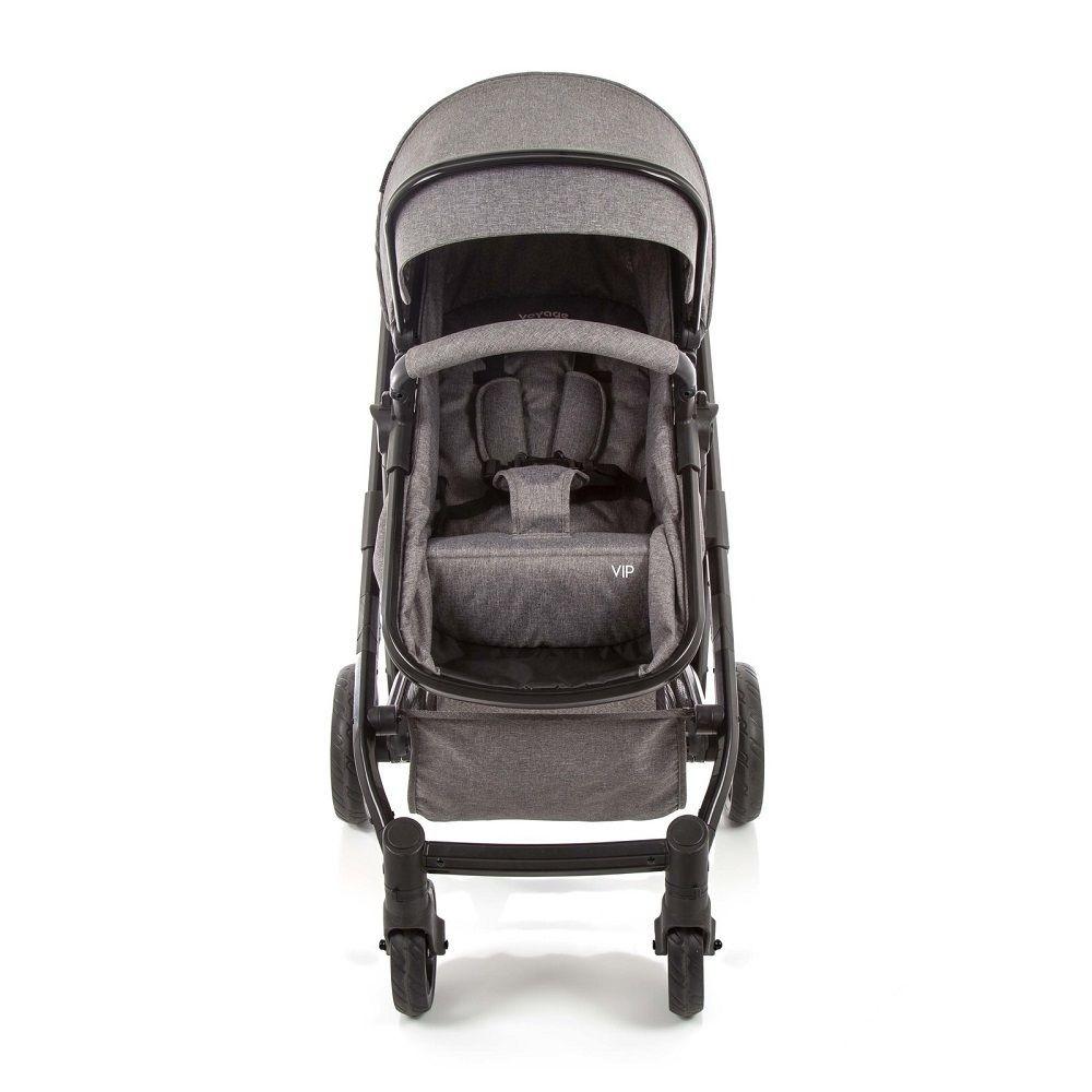Carrinho de Bebê Voyage Vip Cinza Mescla 0 a 15kg