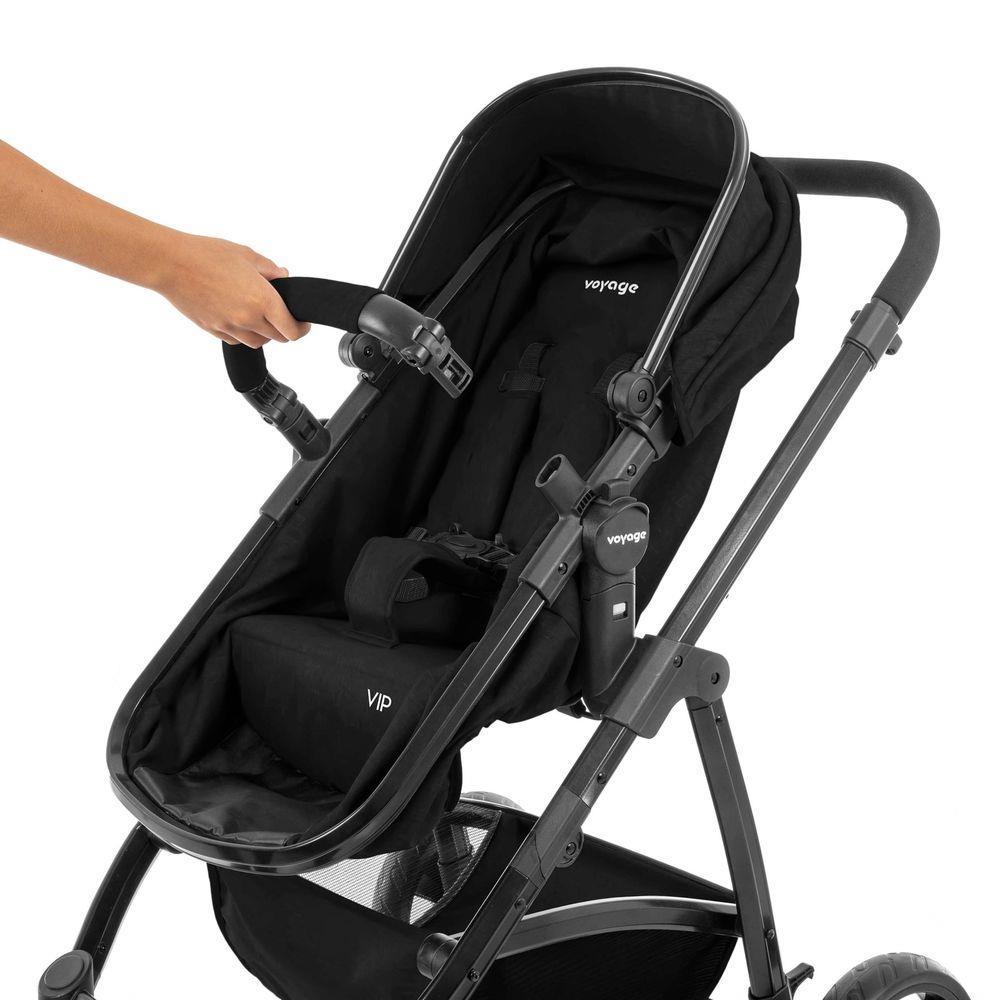 Carrinho de Bebê Voyage Vip Preto 0 a 15kg