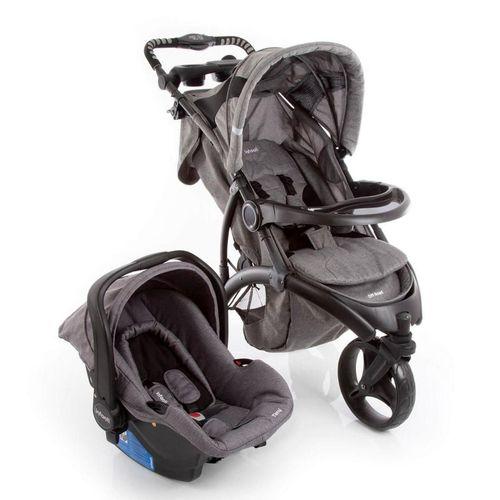 Carrinho de Passeio 3 Rodas Off Road Travel System com Bebê Conforto Grey- Infanti
