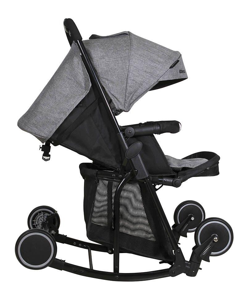 Carrinho para Bebê Zazzy Preto Cinza - Dzieco D115PTC