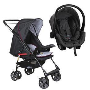 Carrinho Travel System Galzerano  Milano Reversível II com Bebê Conforto -  Preto