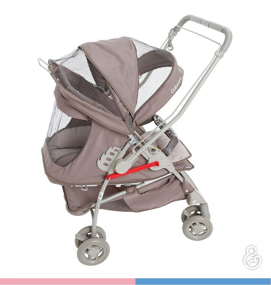 Carrinho Reversível Maranello II Travel System Cappuccino + Bebê Conforto - Galzerano