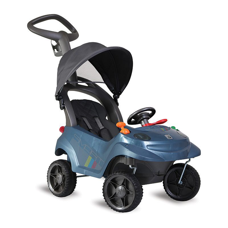 Carrinho Smart Baby Comfort C/ 3 Funções e Capota retrátil Azul - Bandeirante