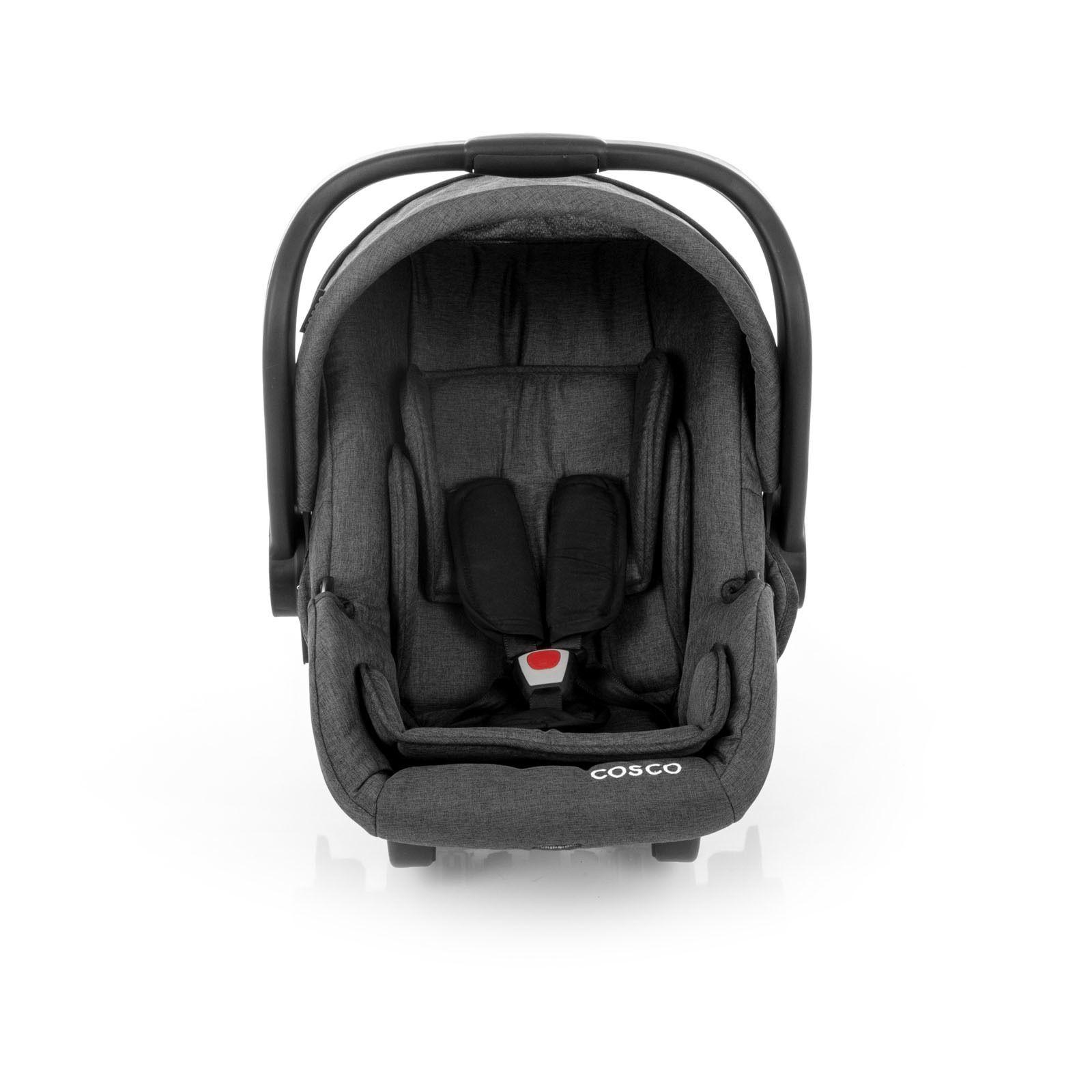 Carrinho Travel System Com Bebê Conforto Moove Preto Mescla - Cosco