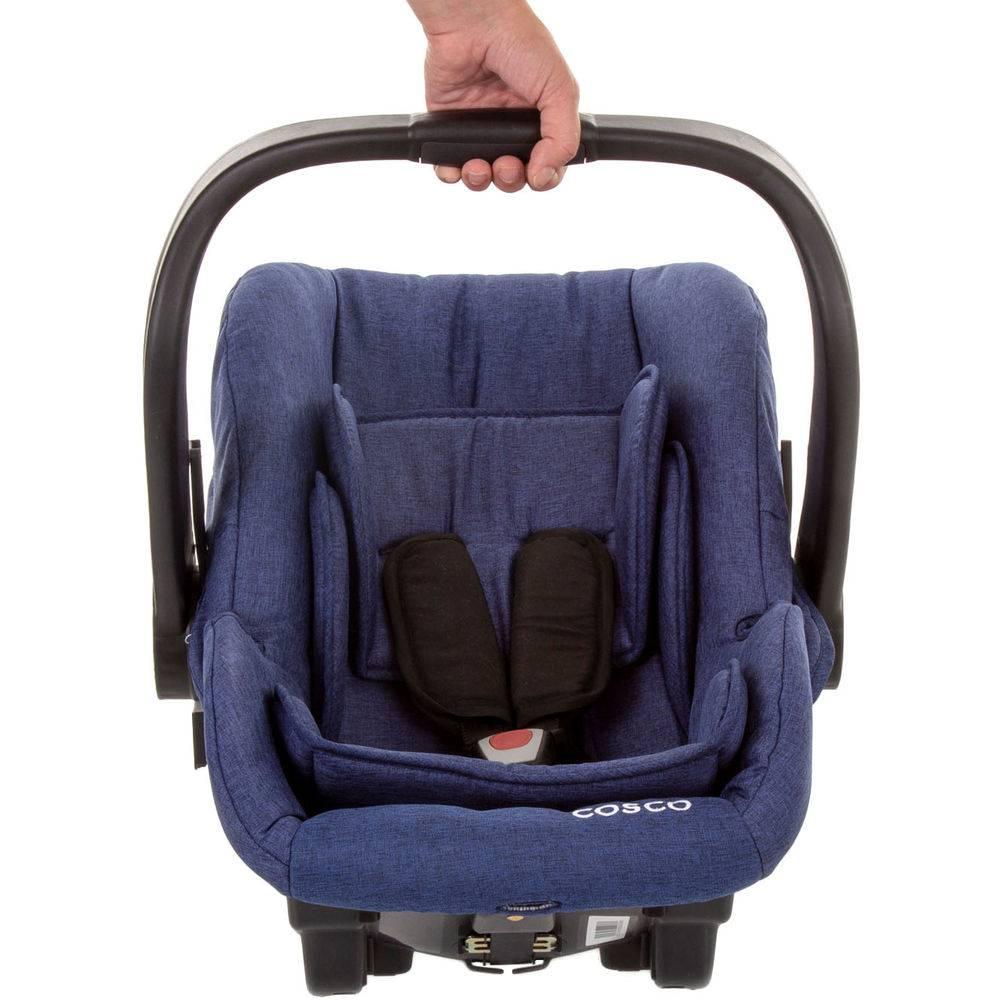 Carrinho Travel System Com Bebê Conforto Moove Azul Mescla - Cosco