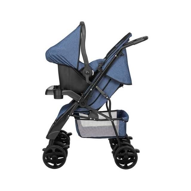 Carrinho de Bebê Tutti Baby Jeans TJ + Bebe conforto Jeans