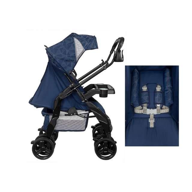 Carrinho Travel System Tutti Baby Upper - Azul Com Bebê Conforto