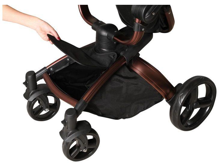 Carrinho de Bebê Galzerano Vulkan Multi Posições – Preto com Bronze