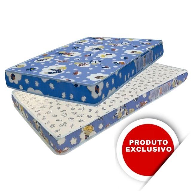 Colchão de Berço Camping  Ortobom Baby Physical 70x100x7