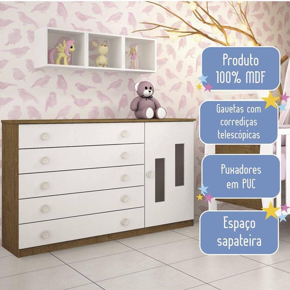 Cômoda Evolution 5 Gavetas Imbuía - Tcil