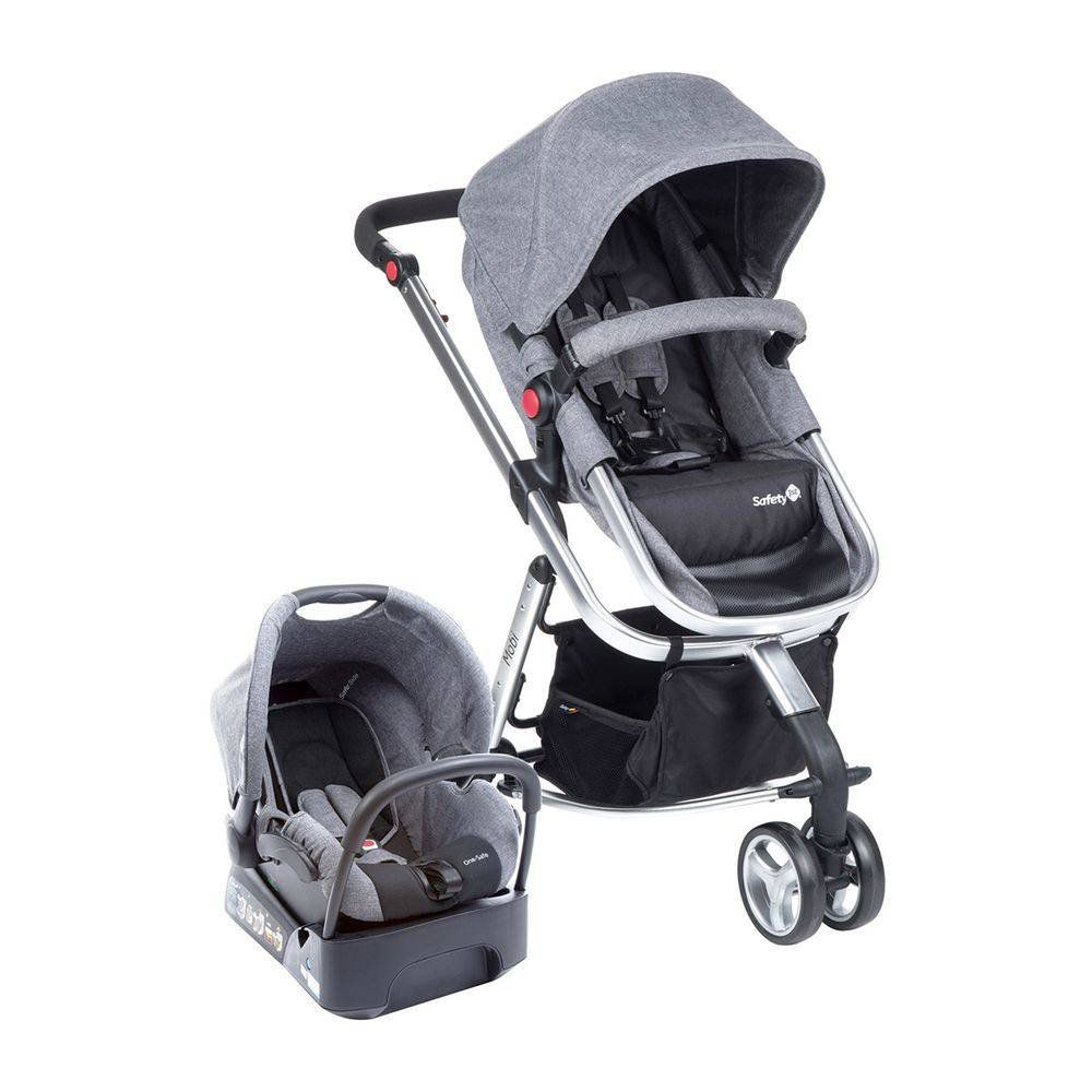 Carrinho Travel System Mobi Safety 1st Grey Denin Silver