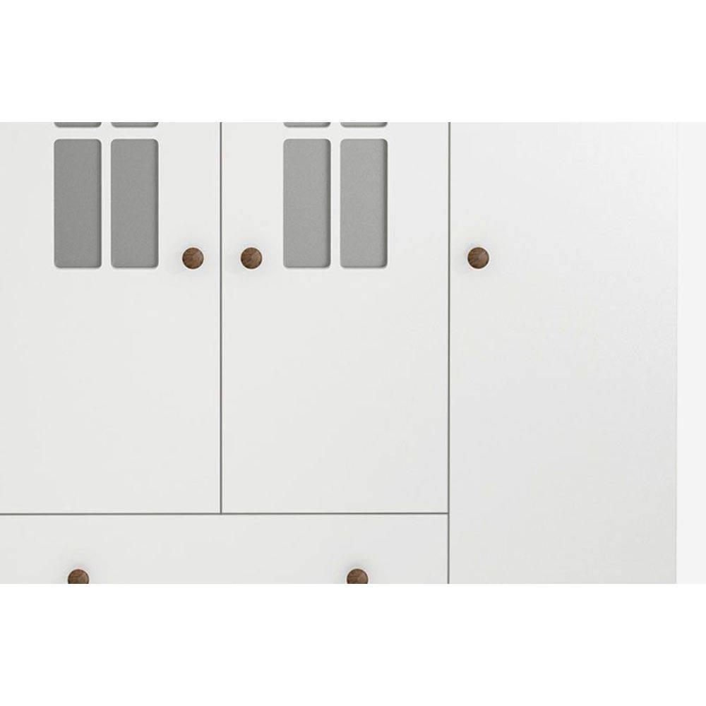 Guarda-Roupa Infantil Vitoriano 4 Portas Branco Acetinado - Imaza Móveis