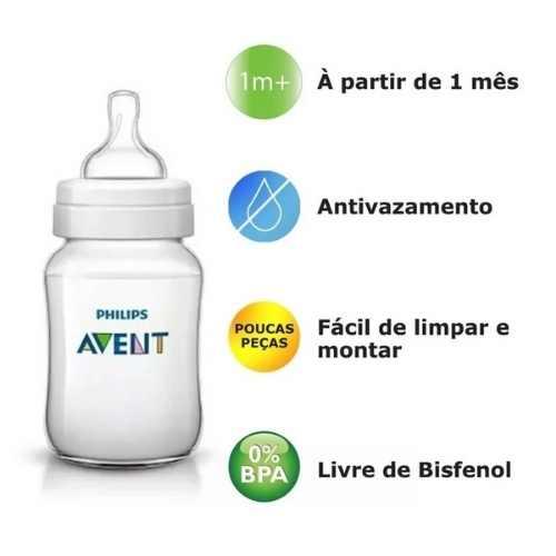 Kit Mamadeiras Classica Anti-colica 125/260/330ml Philips Avent Scd372/03