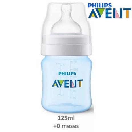 Mamadeira  Anti-cólica 125ml 0+ Meses Azul - Philips Avent