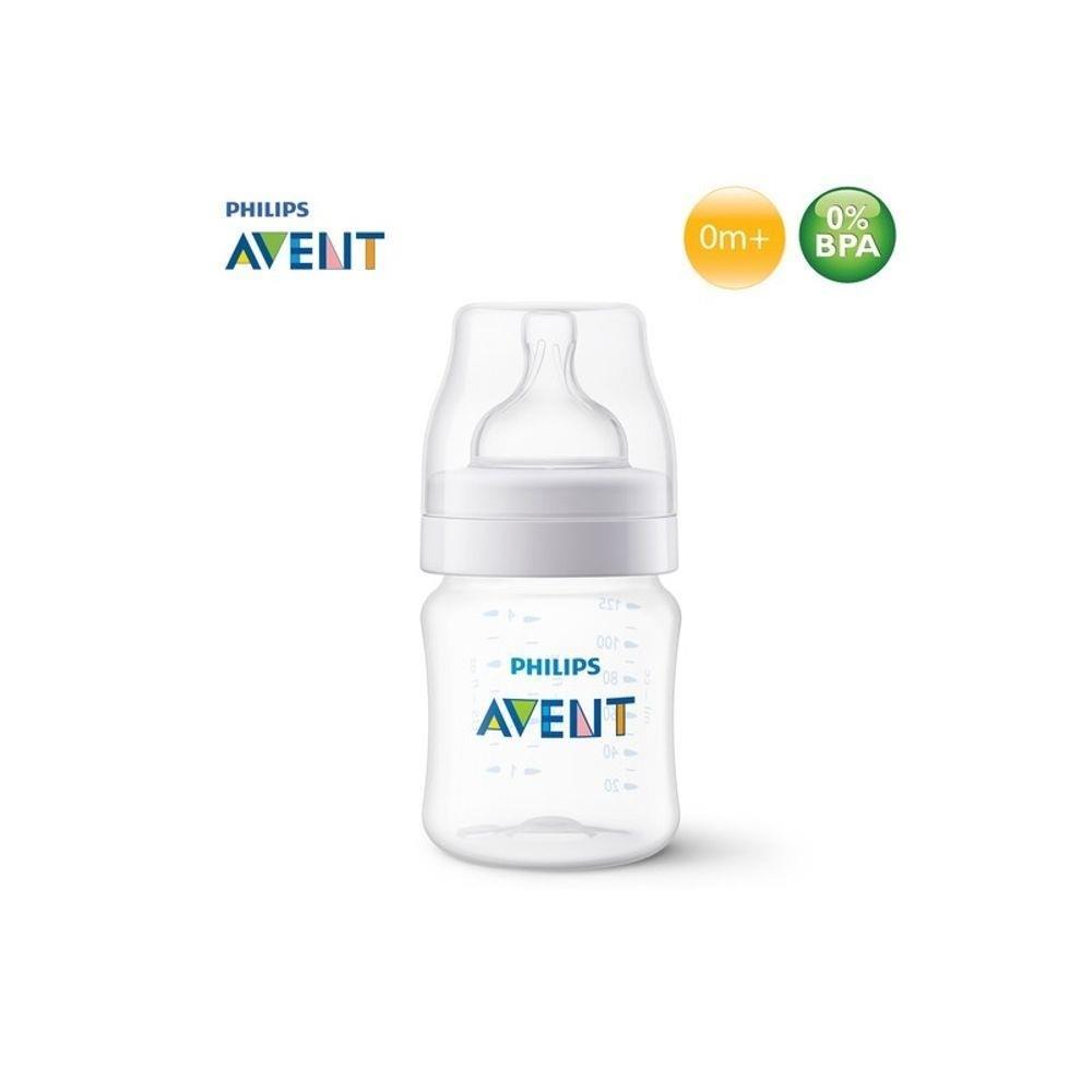 Mamadeira - Clássica Transparente - Anti Cólica - 125 ml - Philips Avent
