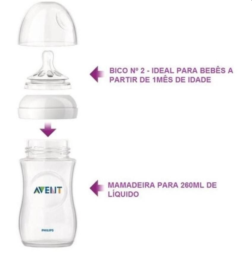 Mamadeira Pétala Philips Avent Anticólica 260 ml Rosa
