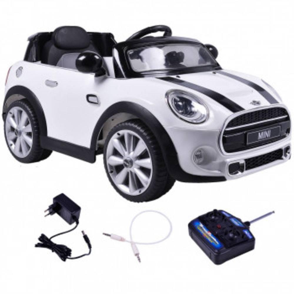 Mini Cooper Elétrico Branco R/C 12V - Belfix