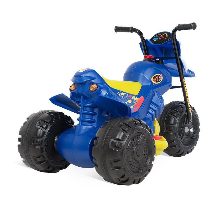 Mini Moto Elétrica 6v Xt3 Com Duas Marchas Azul - Bandeirante