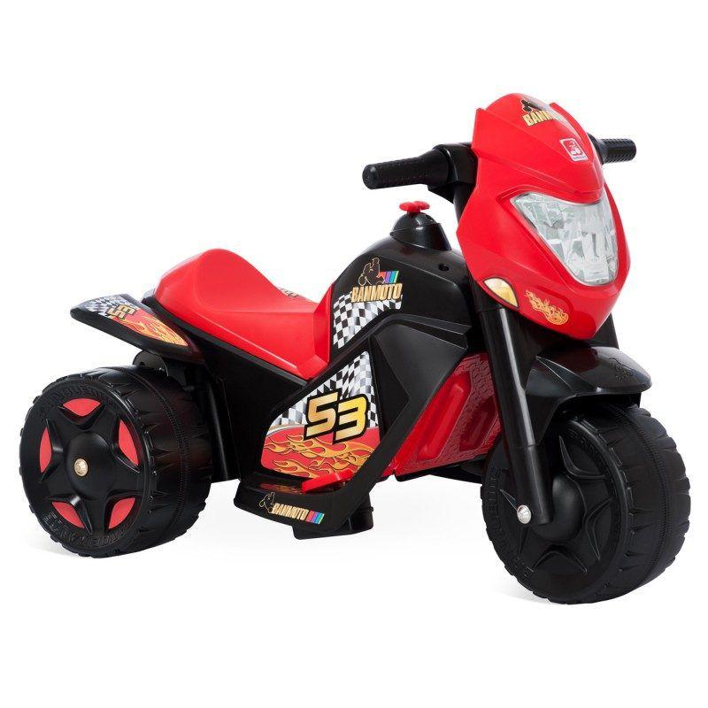 Mini Moto Elétrica - Ban Moto Preto 6V - Bandeirante