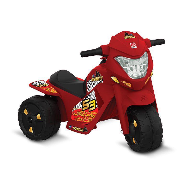 Mini Moto Elétrica - Ban Moto G2 Vermelha 6V - Bandeirante