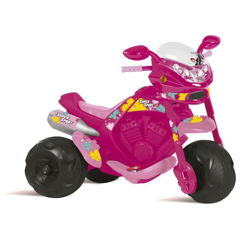 Moto Supersport Elétrica Infantil Rosa 6v - Bandeirante