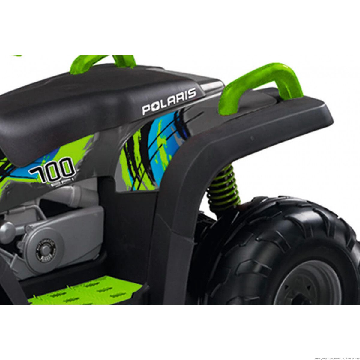 Quadriciclo Elétrico Peg-pérego Polaris Sportsman 700 Twin 12v Lime