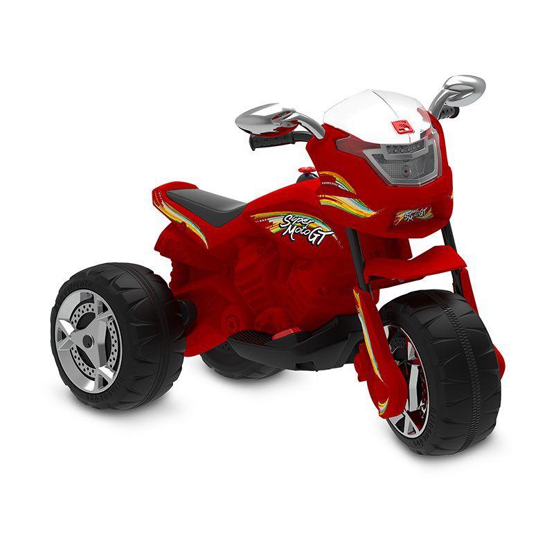 Super Moto GT Elétrica 6v Vermelha - Bandeirante