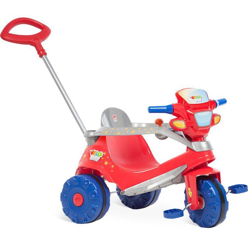 Triciclo Velobaby Passeio Pedal Vermelho - Bandeirante