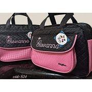 837fd41961f Kit Bolsas de bebê Maternidade Personalizadas 2 pçs Menina (Baby Jhow)