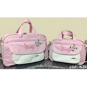 Kit Bolsas de bebê Maternidade Personalizadas 2 pçs Menina (Baby Jhow)
