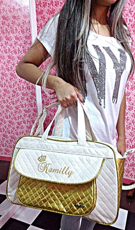 Bolsa grande maternidade Personalizada Menina 1pç (Baby Jhow)