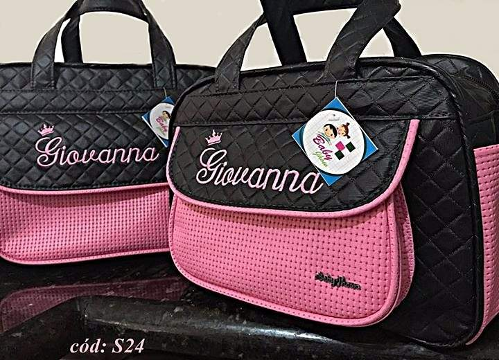 33ea4c94a8f Kit Bolsas de bebê Maternidade Personalizadas 2 pçs Menina (Baby Jhow) -  Baby Jhow