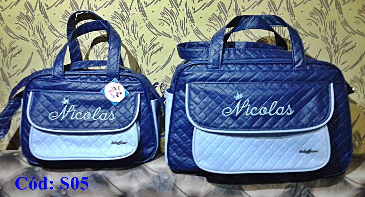 e0e5b86c3 Kit Bolsas de bebê Maternidade Personalizadas Menino 2pçs (Baby Jhow) -  Baby Jhow