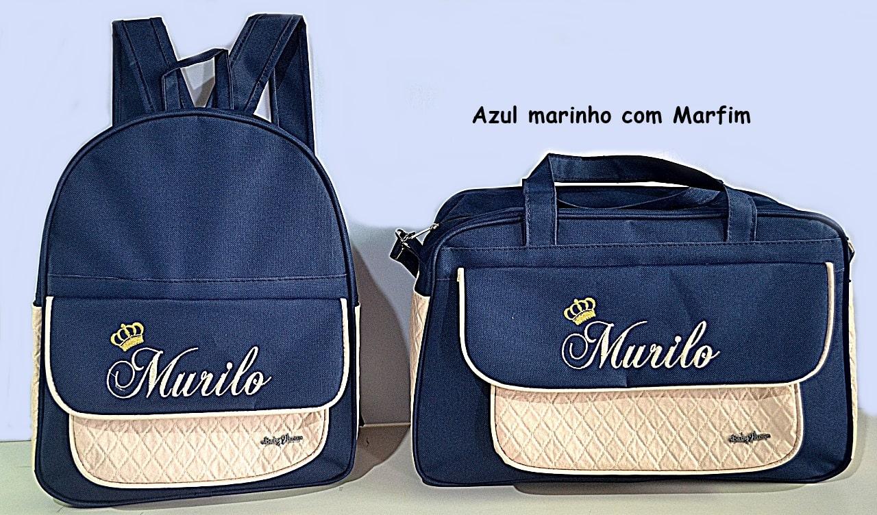 Kit Bolsa Maternidade + Mochila Personalizadas Menino