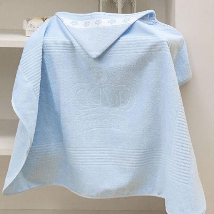 Toalha de banho com Capuz azul personalizada