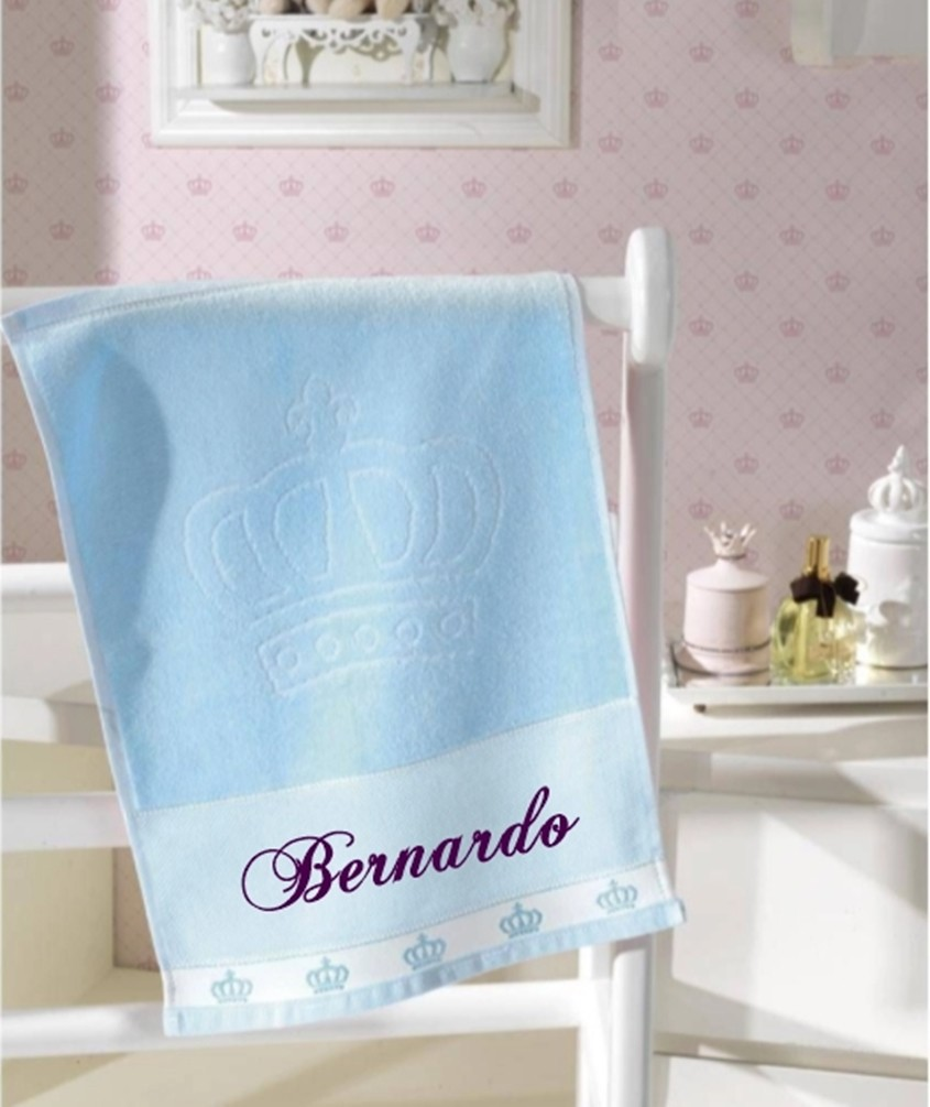 Toalha de Lavabo Azul personalizada