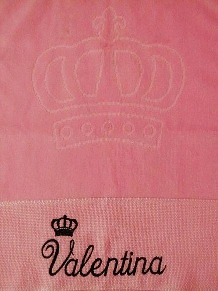 Toalha de Lavabo Rosa personalizada