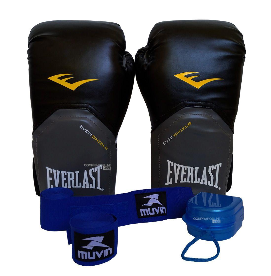 2a8c70443 Luva Bandagens Bucal Para Muay Thai Boxe Everlast 12 Oz Pro Style - Comprar  Online .Net