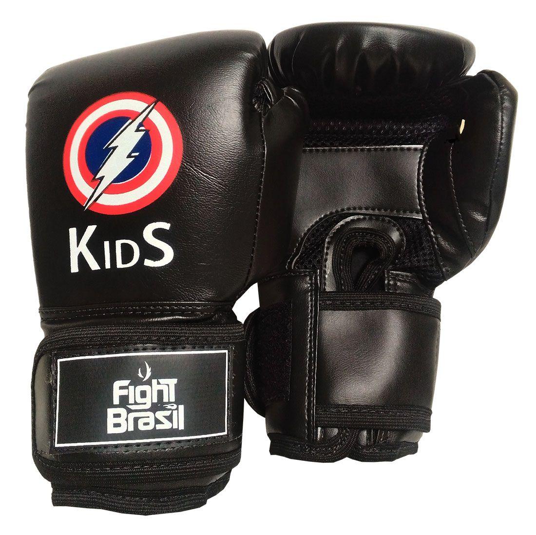 cc46ec243 Luva Muay Thai Boxe Infantil 4 Oz Kids Crianças Fight Brasil
