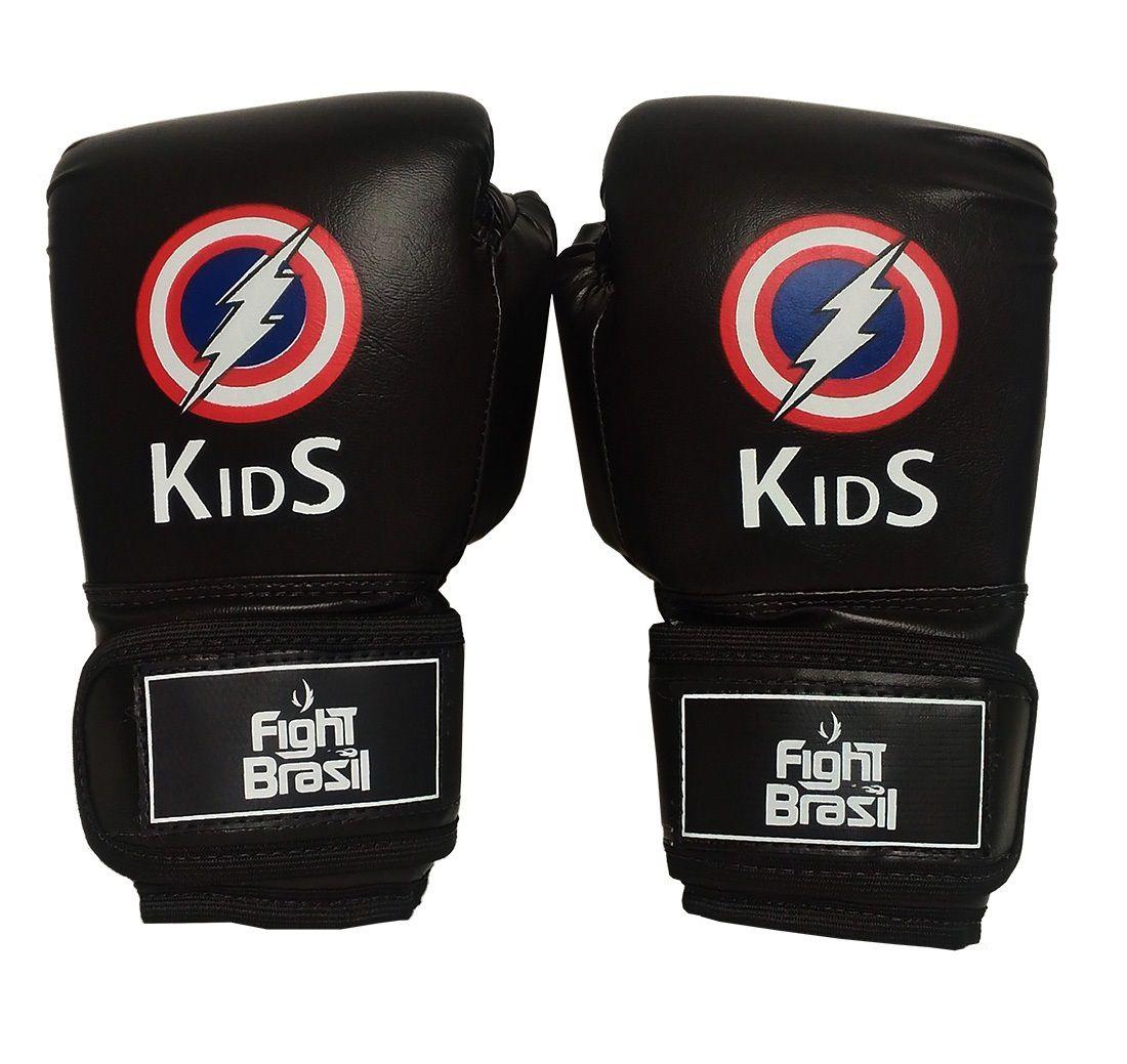 c6799fbea Luva Muay Thai Luva Boxe Infantil 4 Oz Kids Raio Fight Brasil - Comprar  Online .Net