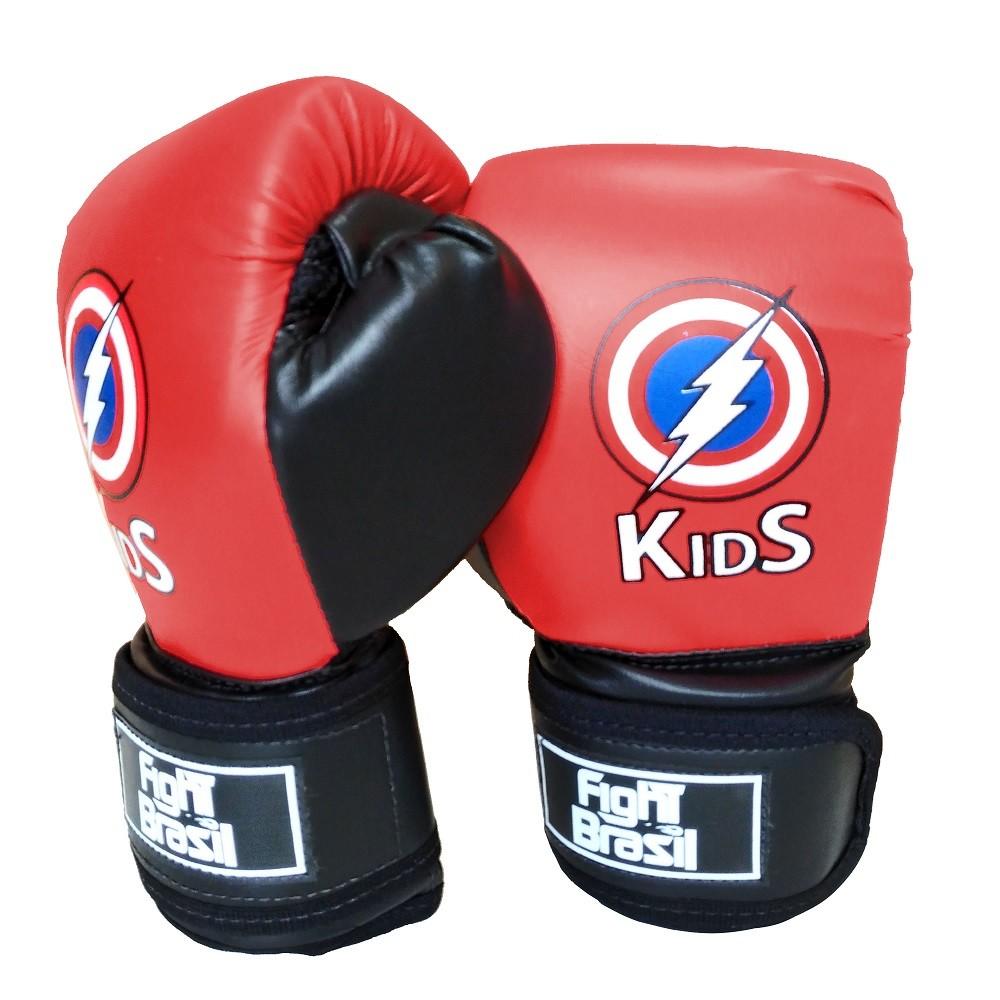 de95a58e7 Luva Para Muay Thai Boxe Infantil Fight Brasil 4 Oz Kids Vermelha - Comprar  Online .Net