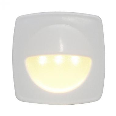 Luz de cortesia Branco Quente 3 led's alta intensidade