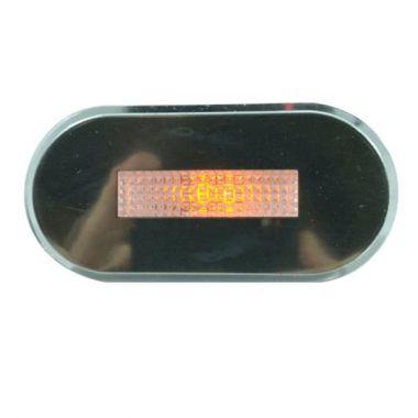 Luz De Cortesia Oval Cromo Led Amarela 12V