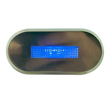 Luz De Cortesia Oval Cromo Led Azul 12V