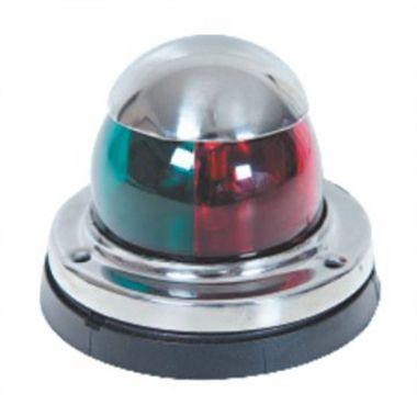 Luz de Navegação Bicolor BB/Be, em aço inox, com lente bicolor V