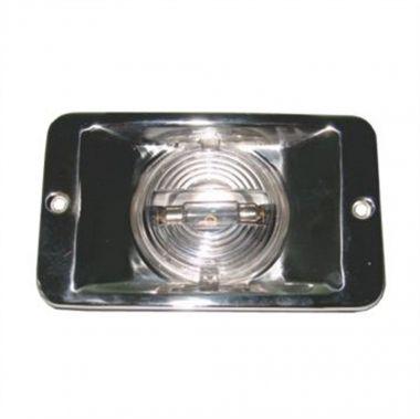 Luz de Popa Retangular em aço inox 12V lancha