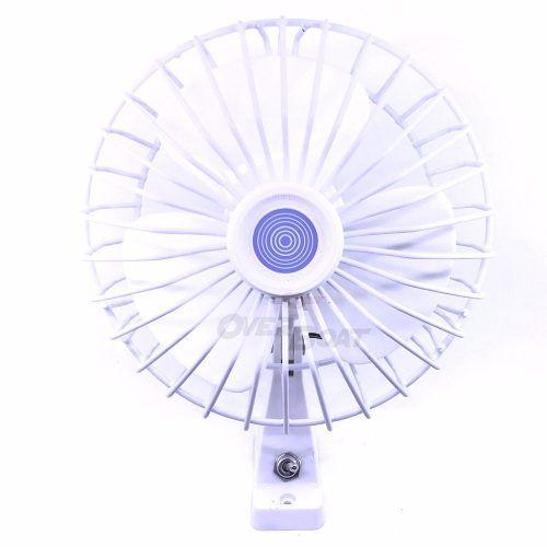 Ventilador Giratótio Marinizado 12v Branco Lancha