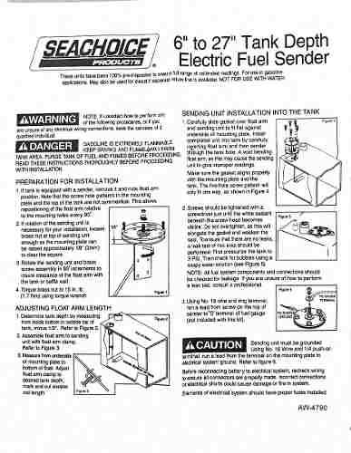 Boia Sensor De Nível De Combustível Náutico Lancha