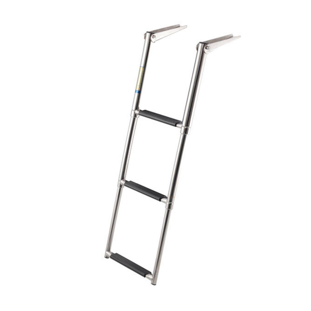 Escada Náutica Inox 3 Degraus Lanchas Barco